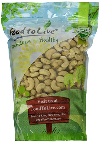Food To Live ® Organic Cashews (Whole, Raw) (2 Pounds) (Raw Roasted Cashews compare prices)