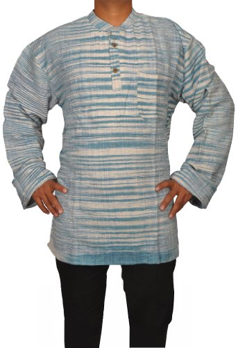 Mens Casual Cotton Indian Short Kurta Fabric For Winter & Summers Size-6XL