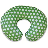 Boppy Pillow Slipcover, Plush Prints Green and White Dot