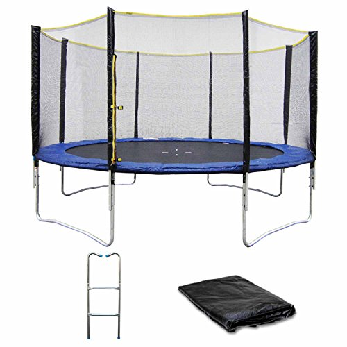 trampoline 430 cm avec filet garden allstore meilleur loisir. Black Bedroom Furniture Sets. Home Design Ideas