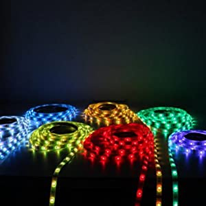 5M 300 LEDS 5050 RGB SMD LED Strip Light IP67 + 44Key IR Remote Controller
