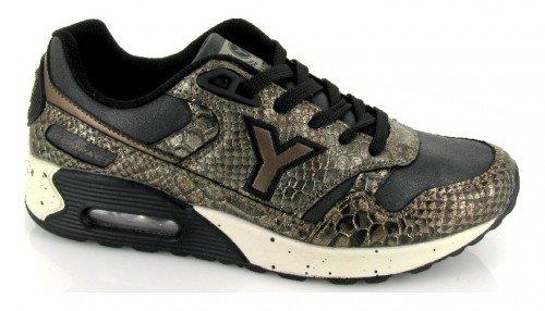 Yumas, Sneaker donna Bronce-negro