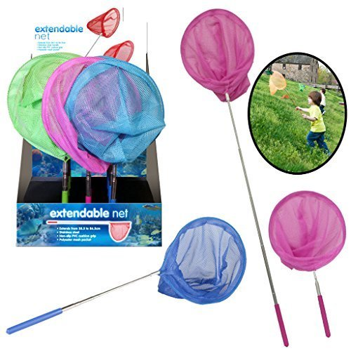 extendable-net-fishing-pole-micro-mesh-stainless-steel-fish-blue-green-pink