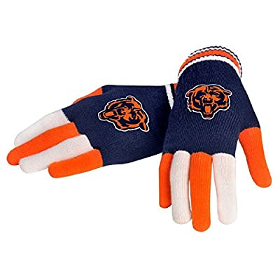 Chicago Bears Forever Collectibles Multi Colored Knit Gloves Ladies One Size