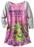 Komar Kids Girls 2-6X Where's My Water Long Sleeve Disney Gown