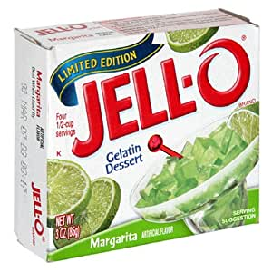 Jell-O Gelatin Dessert, Margarita, 3-Ounce Boxes (Pack of 24)