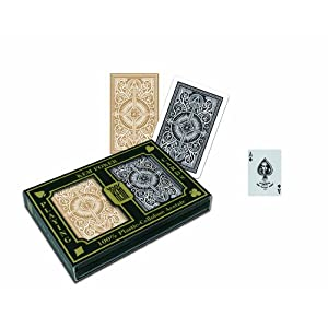 KEM Poker Cards | Arrow Black and Gold Poker Size Standard Index Playing Cards Picture