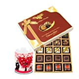Valentine Chocholik Belgium Chocolates - Celebrating Precious Moment Gift Box With Love Mug