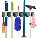 RockBirds Wall Mounted Mop and Broom Holder, storage solutions for broom holders, garage storage systems broom organizer, 100% Satisfaction Guarantee (Gray 5P)