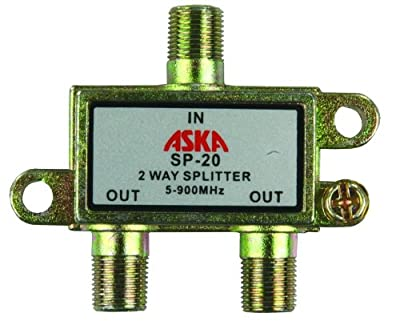 JR Products 47335 2-Way TV Line Splitter