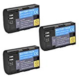 (Pack of 3)High Power LP-E6N LP-E6 Rechargerable Battery For Canon EOS 5D Mark II,EOS 5D Mark III,EOS 6D,EOS 7D,EOS 60D,EOS 60Da,EOS 70D,7DmarkII,7DmarkIII Digital Cameras