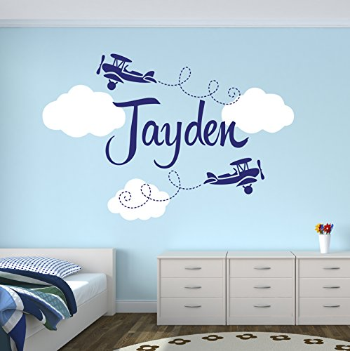 Custom-Airplane-Name-Wall-Decal-Boys-Kids-Room-Decor-Nursery-Wall-Decals-Airplanes-Wall-Decors