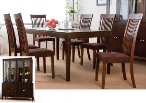 Buy Low Price H P P Dining Table And 6 High Back Chairs In French Walnut Fini