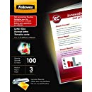 Fellowes Laminating Pouches, Thermal, ImageLast, Letter Size, 3 Mil, 100 Pack (52454)