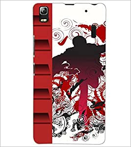 PrintDhaba Abstract Design D-3045 Back Case Cover for LENOVO A7000 TURBO (Multi-Coloured)