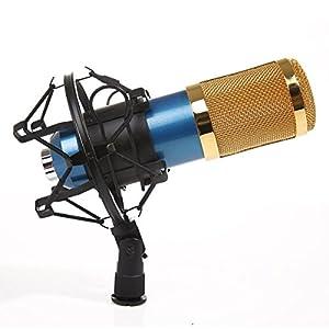 MeGooDo Condenser Microphone Professional Audio Studio Recording Microphone with Shock Mount