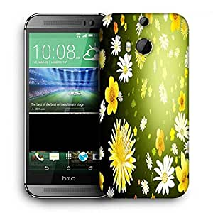 Snoogg Floral Petals Printed Protective Phone Back Case Cover For HTC One M8
