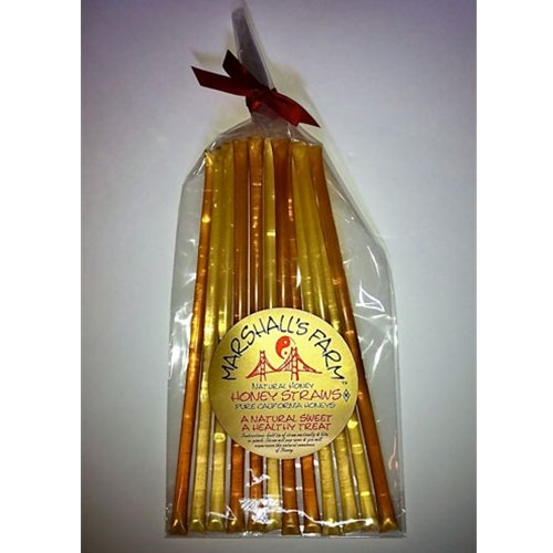 6 Natural Packs Of Honey Stix (Honey Straws),12 Stix In Each Pack, Popular Natural Varietal Honeys - Clover-Star Thistle-Orange Blossom-Wildflower-Wild Blackberry-Sage