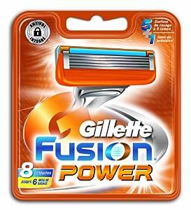 Gillette - 80201238 - Fusion Power - Pack de 8 Lames