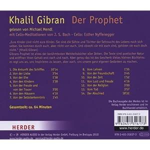 Der Prophet: Mit Cello-Meditationen von J. S. Bach