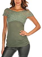FRENCH CODE Camiseta Manga Corta Levy (Verde)