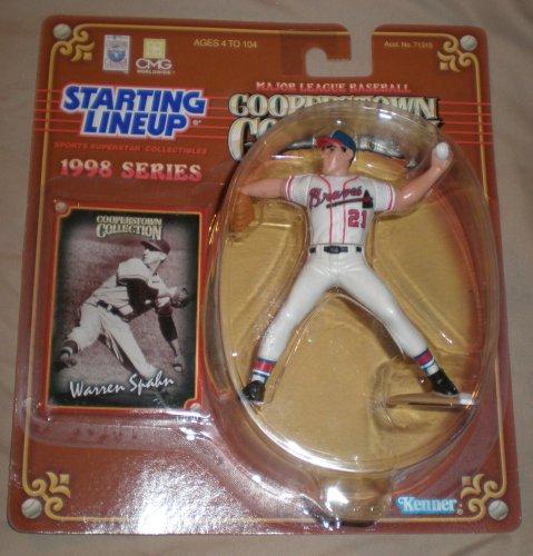 1998 Warren Spahn MLB Cooperstown Collection Starting Lineup Figure