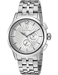 S. Coifman 'Men's Bracelet' Swiss Quartz Stainless Steel Automatic Watch, Color:Silver-Toned (Model: SC0267)