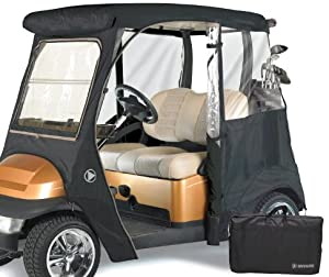 GreenLine Club Car Precedent 2 Passenger Drivable Golf Cart Enclosure - Bunker Sand