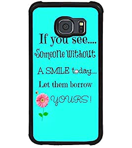 ColourCraft Quote Design Back Case Cover for SAMSUNG GALAXY S6