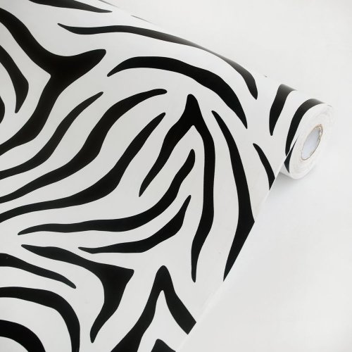 Animal Zebra - Vinyl Self-Adhesive Wallpaper Prepasted Wall Stickers Wall Decor (Roll) front-684511