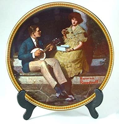 Knowles Pondering on the Porch Norman Rockwell plate from Rockwell's Rediscovered Women collection - CP1245