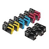 Sherman Inks And Toner Cartridges 16 Pack Compatible Lexmark 100XL / #100 / 100 High Yield 4 Black 4 Cyan 4 Magenta...