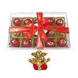 Chocholik Luxury Chocolates - 15pc Attractive Treat Of Truffles With Small Ganesha Idol - Gifts For Diwali