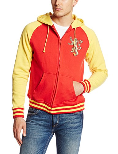 HBO'S Game of Thrones Men's Got Lannister Zip Front Hoodie, Red, X-Large