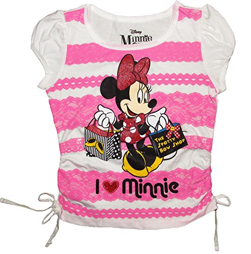 Disney Minnie Mouse Spotty Bow Shop Girls' Side Tie Top Shirt