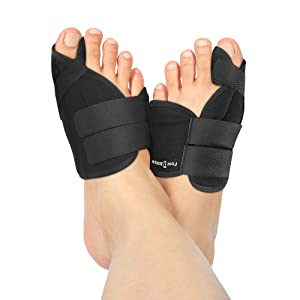 Nighttime Bunion Corrector + Bunion Relief Brace. 2 Best Bunion Toe Splint & Straightener Support Braces. Big and Hammer Toes Cushion for Bunions, Hallux Valgus, Arthritis, Feet Pain. Men and Women (Tamaño: One Size Fits Most)