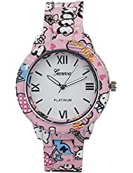COSMIC GENEVA COLLECTION HELLO KITTY PRINTED ON WATCH