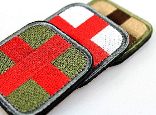 Great Deal! Horizon Medic Cross Tactical Patch - Olive Red White Green