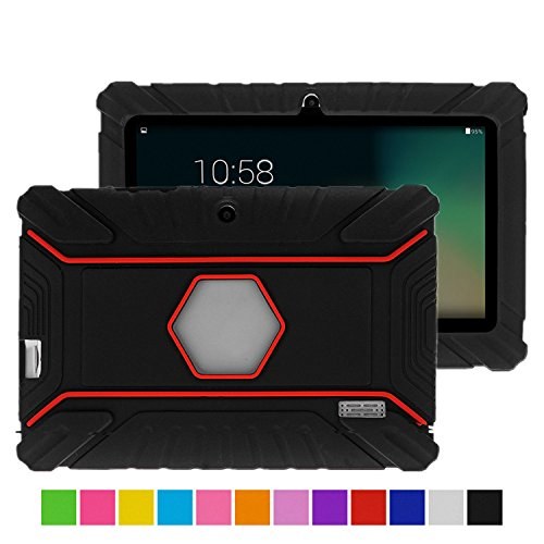 Turpro Kids' Shockproof Silicone Case for Chromo Inc 7 inch, Alldaymall A88X, Dragon Touch Y88X Plus/Y88X, VURU A33, NPOLE 7 Inch Tablet (Black) (7 Inc Tablet Case For Kids compare prices)