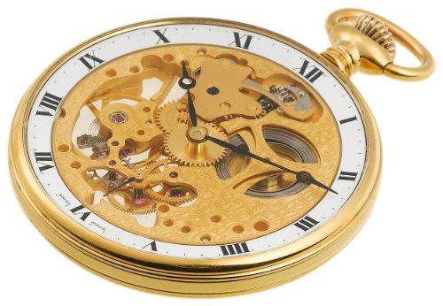 Aerowatch Men's 10210 Mechanical Roman Dial Skeletal Pocket Watch