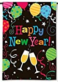 New Year's Party Garden Flag Balloons Champagne 12.5