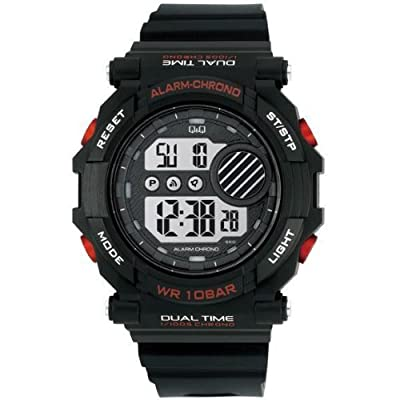 Q and Q Men Digital Sport Watch StopWatch Alarm Light by Q&Q
