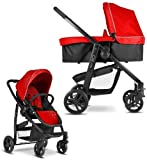 Graco EVO 2-in-1 Baby Pushchair Pram (inc Carrycot) Chilli Red