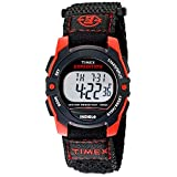 Timex Unisex T49956 Expedition Mid-Size Digital Watch With Black/Red Fast-Wrap Strap