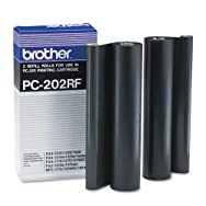 PC202RF Thermal Transfer Refill Rolls, Black, 2/Pack