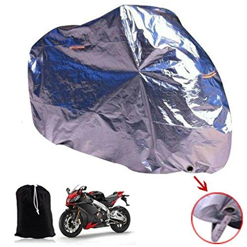 Sengear-Aluminium-Foil-Reflective-Silver-Tissu-moto-pluie-extrieure-tanche-couverture-avec-Keyhole-avant-et-coupe-vent-Boucle