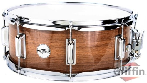 griffin-snare-drum-14-x-55-wood-shell-black-hickory-finish-percussion-poplar