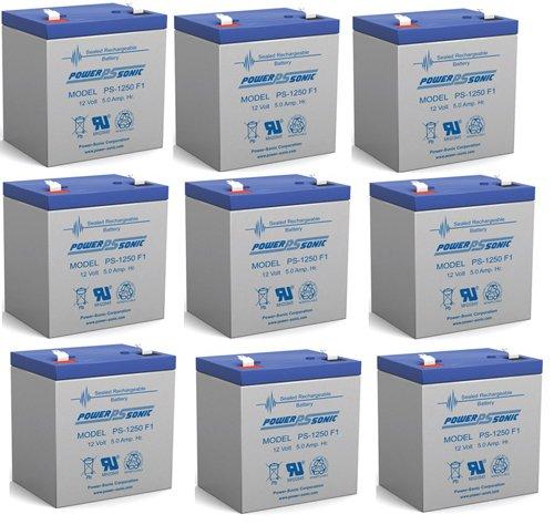 Ca1240 12V 4Ah First Alert Adt Alarm Battery New Ps-1250 - 9 Pack