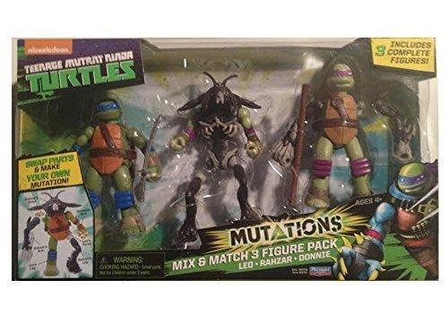 Teenage Mutant Ninja Turtles Mutations Mix & Match 3 Figure Pack Leo/Rahzar/Donnie (Mix And Match Mutations compare prices)