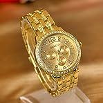Elegant Ladies Geneva Crystal Stainless Steel Watches Women Sport Dress Analog Wristwatches Casua...